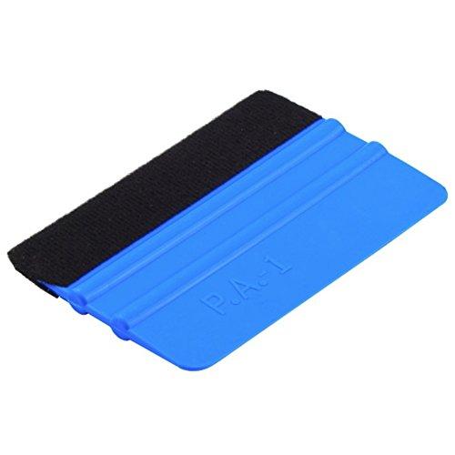 Hinmay Robuster Filzkantenwickel-Reinigungsabzieher aus Kunststoff, 10,2 cm, Rakel für Autofenster Folie, Blau, blau