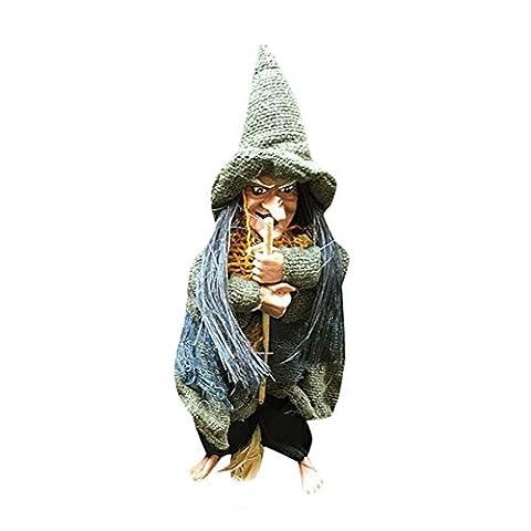 Hirolan Talent Halloween Flug Scannen Flachs Hexe Geist Requisiten Ktv Falke Zuhause Dekorativ Requisiten (Grün Harz Kreuz)