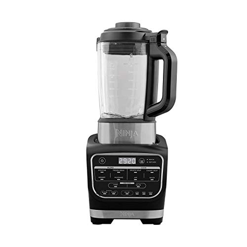 Ninja HB150EU Soup Maker & Blender Robot, Stainless Steel Blades/Thermo Resistant Glass Jug/Plastic, Black