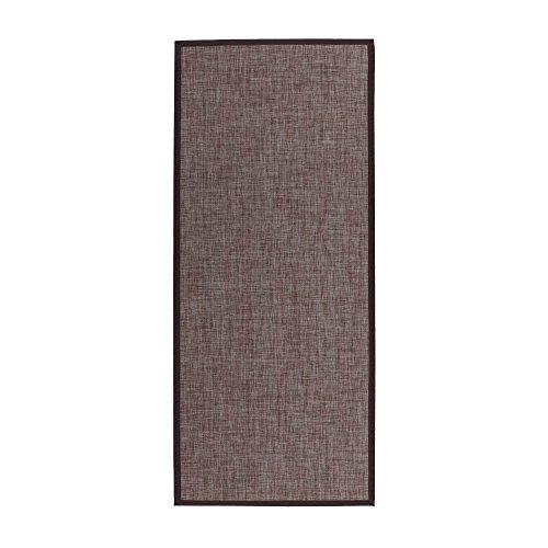 Alfombra pasillera de polipropileno marrón clásica para salón de 75 x 175 cm Bretaña - Lola Home