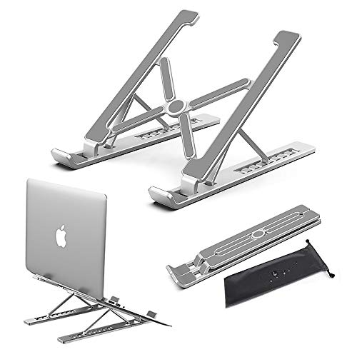 Conpro Support Ventilé Ordinateur Portable, Support PC Portable Aluminium, Laptop Stand Réglable, Accessoire pour MacBook, Dell, Lenovo, HP, Tablette, Autres Laptops (10-18 Pouce)