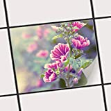 creatisto Fliesen-Sticker Aufkleber Folie Selbstklebend | Fliesenspiegel Dekorationssticker Bad renovieren Küche Bad Ideen | 25x20 cm Design Motiv Flower Gaze - 1 Stück