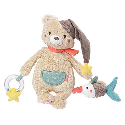 Fehn 060195 Activity-Bär - Motorikspielzeug zum Aufhängen - Für Babys und Kleinkinder ab 0+ Monaten - Maße: 28 cm