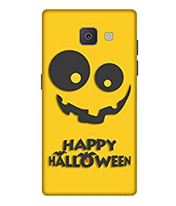 Print Opera Hard Plastic Designer Printed Phone Cover for Samsung Galaxy J7 Prime/Samsung Galaxy On7 2016 Happy Halloween in Black and Yellow