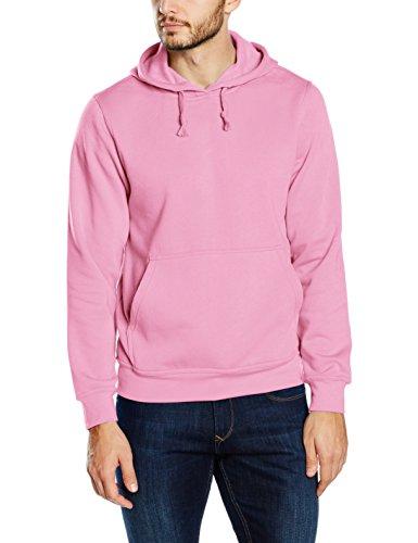 Clique Basic, Pullover con Cappellopuccio Uomo, Pink (Bright Pink), XXX-Large