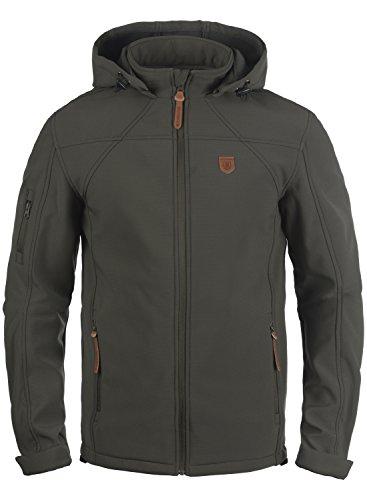 INDICODE Jonas - chaqueta softshell para hombre, tamaño:L;color:Raven (930)
