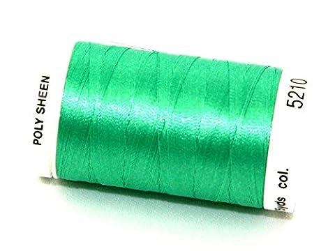 Mettler Polysheen Polyester Machine Embroidery Thread 800m 800m 5210 Trellis Green - per spool