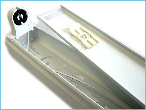 Plafoniera Neon 120 Cm : Porta lampada plafoniera per tubo neon t a led cm singolo