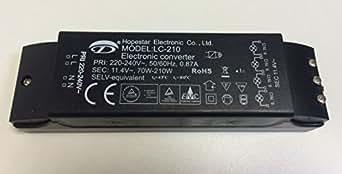 ersatztrafo f r halogenlampen lc 70 210w trafo transformator electronic converter. Black Bedroom Furniture Sets. Home Design Ideas