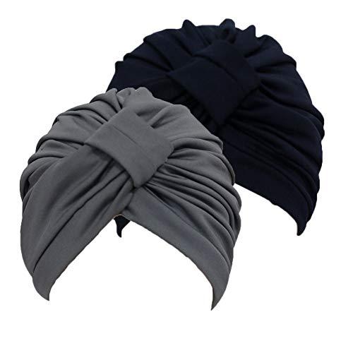 Mujer Beanie Hat Gorra de Dormir Suave Turban Head Wrap Chemo Cap para Pacientes con Cáncer Pérdida del Cabello