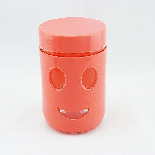 Smiley Aufbewahrungsglas Vorratsdose Kaffeedose Lebensmittel Aufbewahrung (Pink)