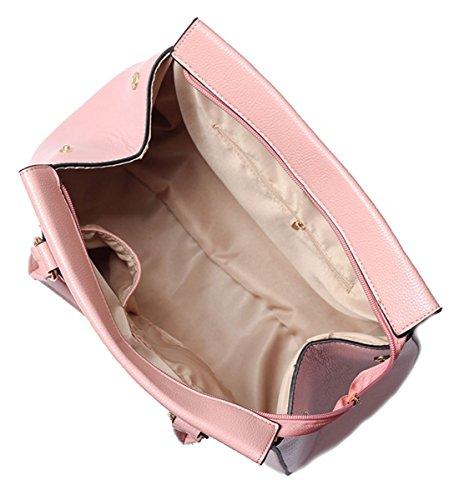 Kukubird Carianna Di Alta Qualità Ecopelle Due Cinghie Design Top-maniglia Spalla Tote Borsetta Pink
