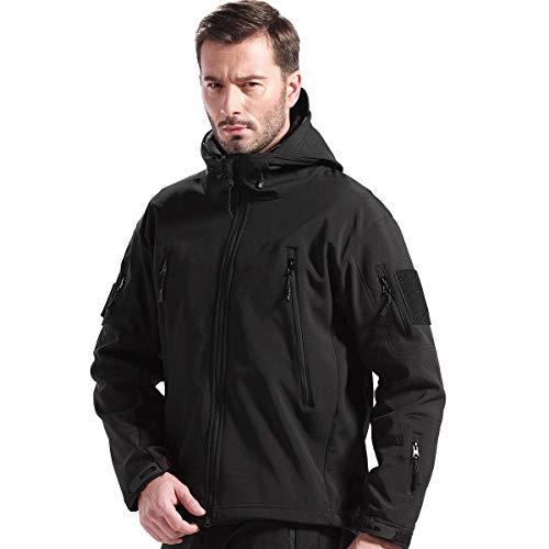 FREE SOLDIER Outdoor Herren Softshell Jacke für Camping Klettern Wandern Instant Wasserdichte Mantel
