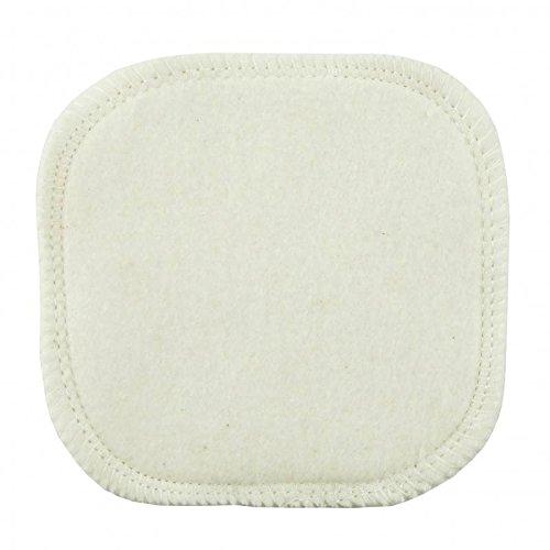 AVRIL - Démaquillant carré en coton bio - Combiné avec le nettoyant habituel, nettoie efficacement et en douceur tout type de maquillage - Double Face