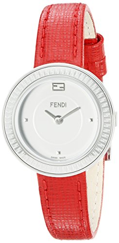 Fendi My Way F354024073 28mm Stainless Steel Case Red Calfskin Anti-Reflective Sapphire Women's Watch