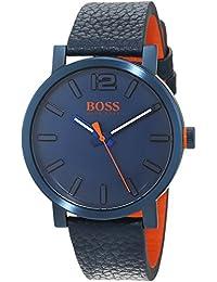 def78bd5a336 Hugo Boss Orange Homme Analogique Classique Quartz Montres bracelet avec  bracelet en Cuir - 1550039