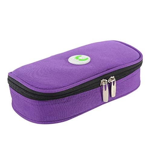 Healifty borsa da viaggio medica Sacchetto di immagazzinaggio sacchetto di raffreddamento portatile insulina sacchetto di campeggio organizzatore di viaggio medico (viola)