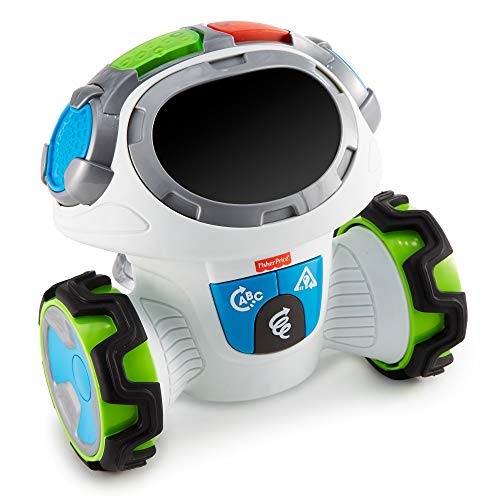 Fisher-Price Roby Robot Gioca & Impara, Robottino Giocattolo Educativo per Bambini dai 3 Anni, con Musica, Suoni e Canzoni, FLP12