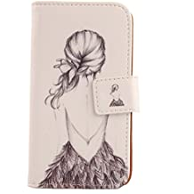 "Lankashi PU Flip Funda De Carcasa Cuero Case Cover Piel Para Elephone M3 5.5"" Back Girl Design"