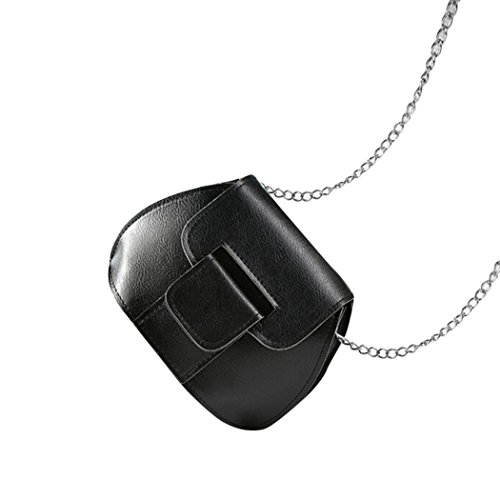 Transer Women Shoulder Bag Popular Girls Hand Bag Ladies PU Leather Handbag, Borsa a spalla donna Multicolore Pink 17cm(L)*12(H)*10cm(W), Black (Multicolore) - CQQ60901347 Black