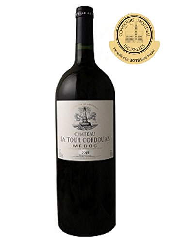 MAGNUM CHATEAU LA TOUR CORDOUAN - Vin Rouge AOP Médoc Bordeaux - 2015 Gold Medal in Bruxelles competition in 2018. 1,5L