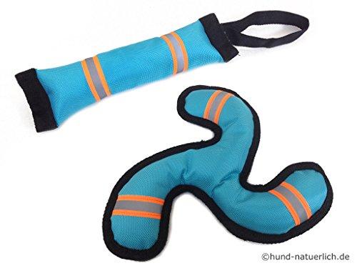 Schwimmspielzeug Set für Hunde Aqua Boomerang und Apportel, Wasserspielzeug