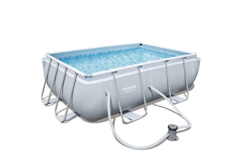 Bestway Power Steel Frame viereckig Pool Set