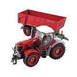 RC Ferngesteuerter Traktor Spielzeug, 6 Kanal 1:28 Simulationsfahrzeug Mit Anhänger Geburtstagsgeschenk Für Kinder