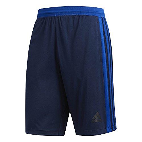 adidas Herren D2M 3 Stripes Shorts 1/2, Navy/Collegiate Royal, M