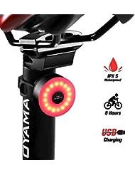 DONPEREGRINO M2 Luz Trasera Bicicleta Roja 8h de Iluminación - Luces LED Casco Mochila Ciclismo Precaución Impermeable Ipx 5 y Recargable USB