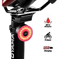 DONPEREGRINO M2 - LED Luce Bici 8 Ore di Illuminazione, Fanale Posteriore Bicicletta Ricaricabile USB