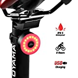 DONPEREGRINO M2 LED Luz Bicicleta Trasera 8 Horas de Iluminación Recargable USB con 5 Modos