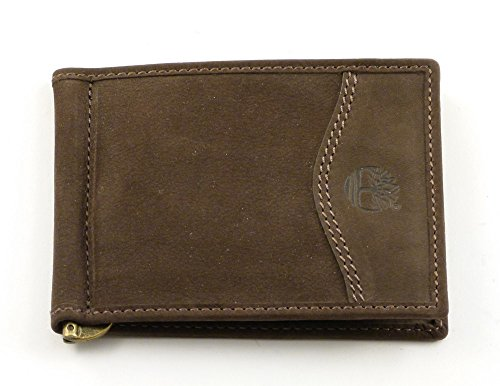Mens slim wallet with clip Timberland M3044 brown 544