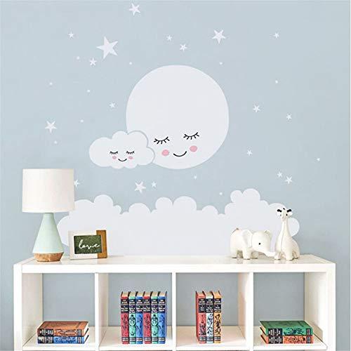 o Wolke Kinderzimmer Wandaufkleber Für Kinderzimmer Aufkleber Kindergarten Sterne Wandaufkleber Mädchen Dekorative Vinyl Babys ()