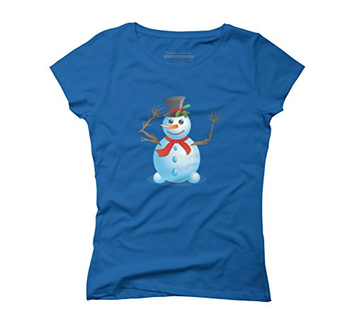 Christmas snowman Women's Graphic T-Shirt - Design By Humans Royal Blue