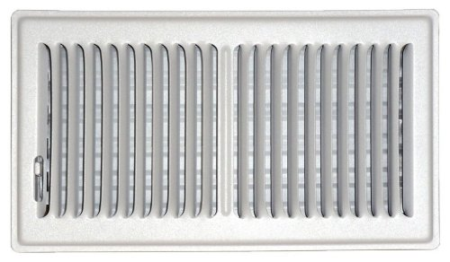 Speedi-Grille SG-610 FLW 6-Inch by 10-Inch White Floor Vent Register with 2 Way Deflection by Speedi-Grille