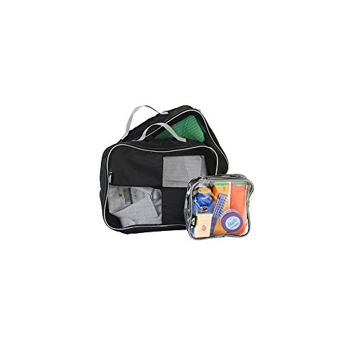 Packing Cubes / Organisers For Easy Packing And Toiletry Bag Hand Luggage Approved Solution (Black)