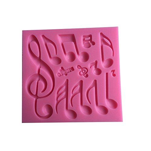 Karen Baking Schöne Und Classics Verschiedene Musik-Anmerkung Form 3D Silikon Backform für Kuchen-Fondant Dekorieren
