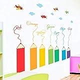 WSKRZS Sticker Mural Grande Vente Coloful Crayon Autocollants Muraux pour La Décoration À La Maison Amovible Plan Autocollant...