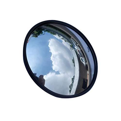 Specchio for Garage da Strada 60CM, Specchio Convesso Tondo Nero Negozio di Alimentari Specchio antifurto for Ristorante Adatto for Interni all\'aperto (Size : 60CM)
