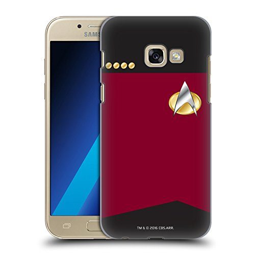 Head Case Designs Offizielle Star Trek Captain Uniformen Und Plaketten TNG Harte Rueckseiten Huelle kompatibel mit Samsung Galaxy A3 (2017)