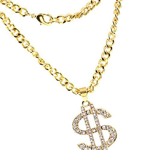 ar Geld Anhänger Legierung lange Halsketten-Zeichen für Hip Hop Frauen Männer ()