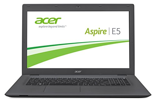 Acer Aspire E5-772G-76S9 - notebooks (Notebook, DVD Super Multi DL, Touchpad, Windows 10 Home, Lithium Polymer (LiPo), Nero, Grigio)