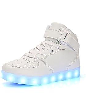 DoGeek LED Schuhe Kinder Damen 7 Farbe USB Aufladen Leuchtend Sportschuhe LED Kinder Farbwechsel Sneaker Turnschuhe...