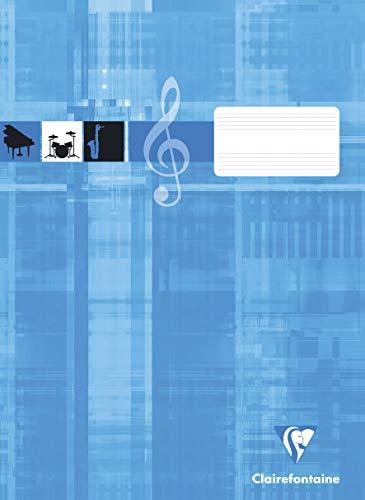 Clairefontaine 31014C Notenheft ideal für Musikunterricht, DIN A4, -