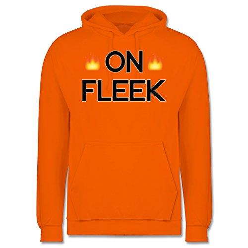 Statement Shirts - On Fleek - Männer Premium Kapuzenpullover / Hoodie Orange