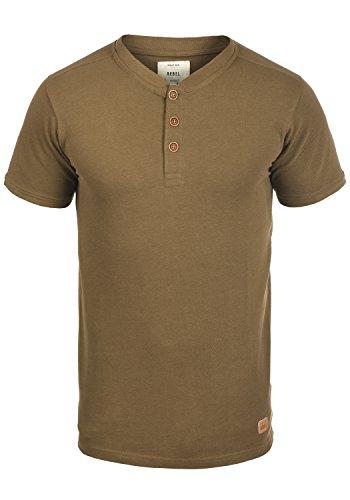 Redefined Rebel Mulligan Herren T-Shirt Kurzarm Shirt Mit Grandad-Ausschnitt Aus 100% Baumwolle, Größe:XL, Farbe:Dark Sand
