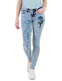 La Modeuse - Jeans skinny effet délavé