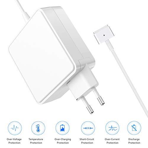 Magsafe Ac Power Adapter (Ladegerät Netzteil für Apple MacBook Air und MacBook Pro AC 60W Magnetische MagSafe 2 T Form Power Adapter Notebook Ladekabel Kompatibel 11 13 Zoll A1435 A1465 A1502 MD212 MD213 MD662 ab Ende 2012)