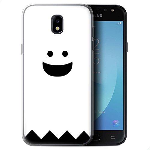 lle/Case für Samsung Galaxy J5 2017/J530 / Geist Muster/Halloween Zeichen Kollektion ()